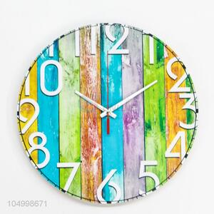 Wholesale Cheap Price Round Shaped Glass Wall Clock Modern Design