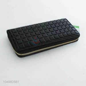 Low price top quality simple black wallet