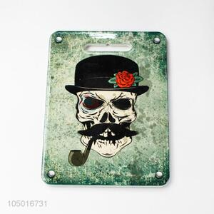 Bottom price rectangle ceramic cup mat cup coster with skull pattern