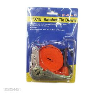 Wholesale custom 100% polyester webbing ratchet tie down set
