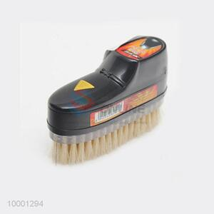 ABS/black shoe shaped shoeshine sponge with brush
