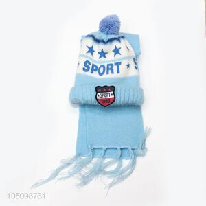 China Hot Sale Boy Winter Knitted Cap and Scarf