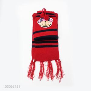 Unique Kids Toddler Baby Winter Warm Cartoon Hats and Scarf