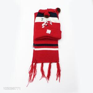 Modern Style Cartoon Children's Winter Hats and Scarf Set