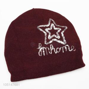 Exquisite Wholesale Double-Deck Chinlon Knitted Sport Winter Hat with Star Printed