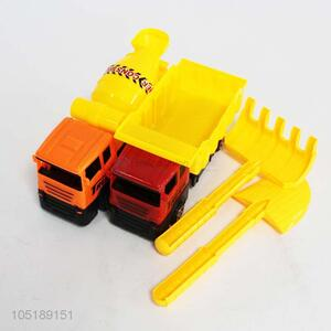 Yellow Color Kids Toy Vehicles Inertial Truck Tractor