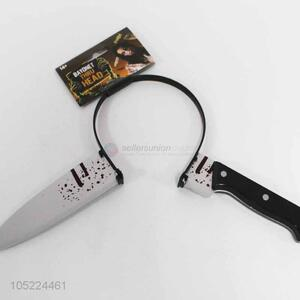Promotional scary fruit knife shape hair clasp for Halloween