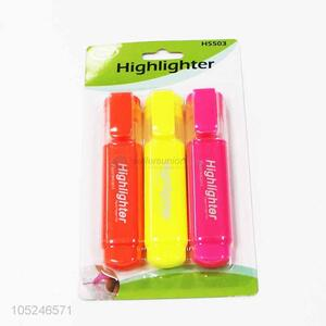 Wholesale Top Quality 3PCHighlighter Office Supplies