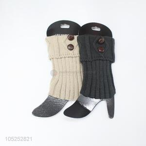 Premium quality women 2 colors knitted leg warmer