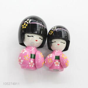 High Quality Beauty Girl Handmade Wooden Toy