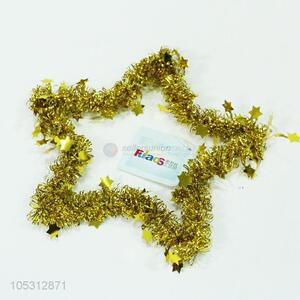 Manufacturer custom Christmas decoration five-point shape glitter tinsel