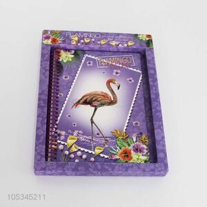 Hot sale luxurious flamingo printed notebook 60pages
