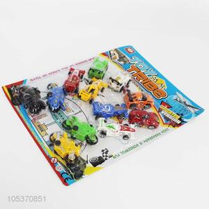 Hot selling boys favor 12pcs toy cars of different types