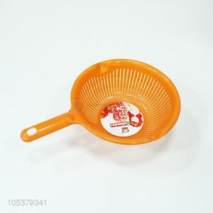 Good quality orange plastic drain basket with handle