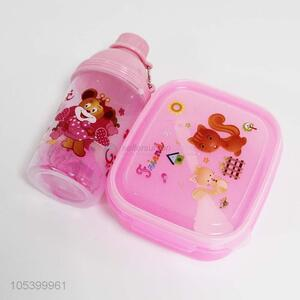Direct factory custom kids plastic lunch box+water box set