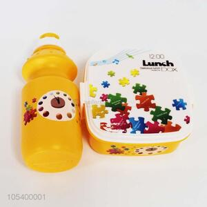 New design plastic lunch box+water box set