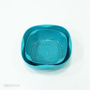 Competitive price blue plastic drain basket set
