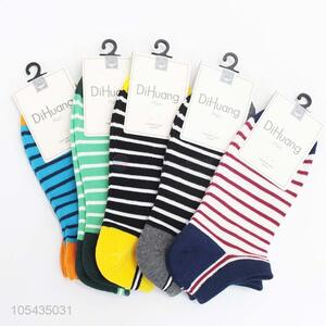 Hot New Products Stripe Pattern Cotton Man Ship Socks