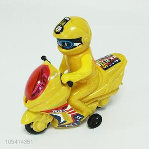 Hot selling yellow motorcycle and driver set toy