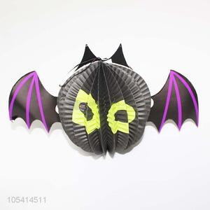 Unique Design Paper Bat Shape Halloween Ornament