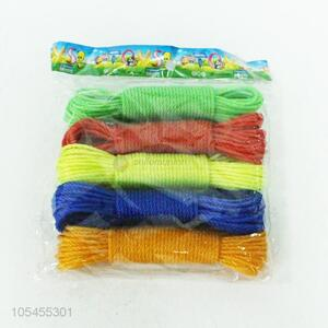 High Quality 5Pieces Colorful Clothesline Best Washing Line