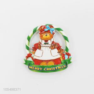 Factory customized soft resin refrigerator magnet for Christmas