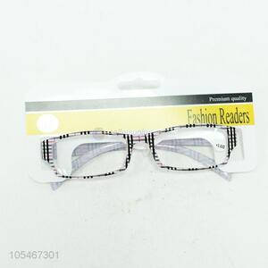 Hot selling fashion unisex check pattern reading glasses