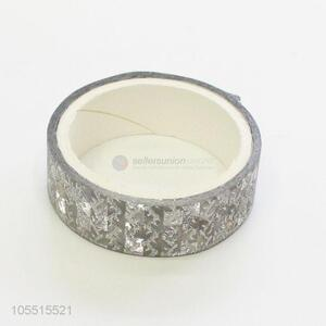 New style custom decorative silver glitter adhesive tape