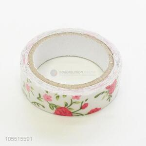 Custom handmade ornaments use flower printed cloth duct adhesive tape