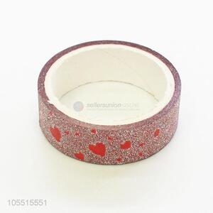 New arrival heart pattern glitter adhesive tape for decoration