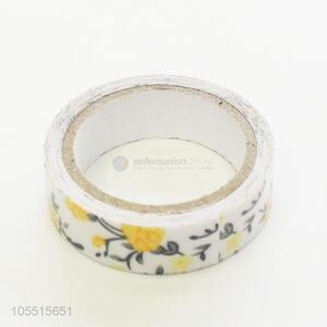 Delicate style handmade ornaments use flower printed cloth duct adhesive tape