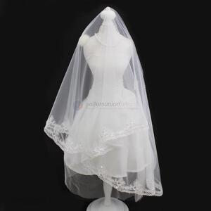 Hot Selling Beautiful White Wedding Bridal Veil