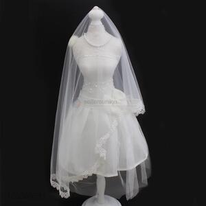 Top Selling Pure White Tulle Mesh Wedding Bridal Veil