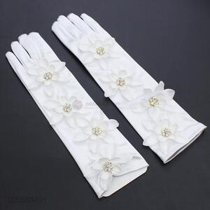 Best Price Women Elegant Crystals Beads Gloves