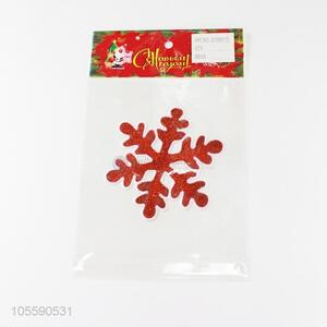 Hot Selling Red Snowflake Shape Jelly Sticker Christmas Decoration
