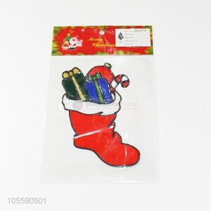 Good Sale Christmas Sock Shape Jelly Sticker Christmas Sticker