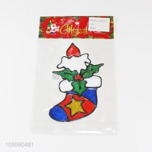 Best Quality Colorful Christmas Sock Shape Jelly Sticker
