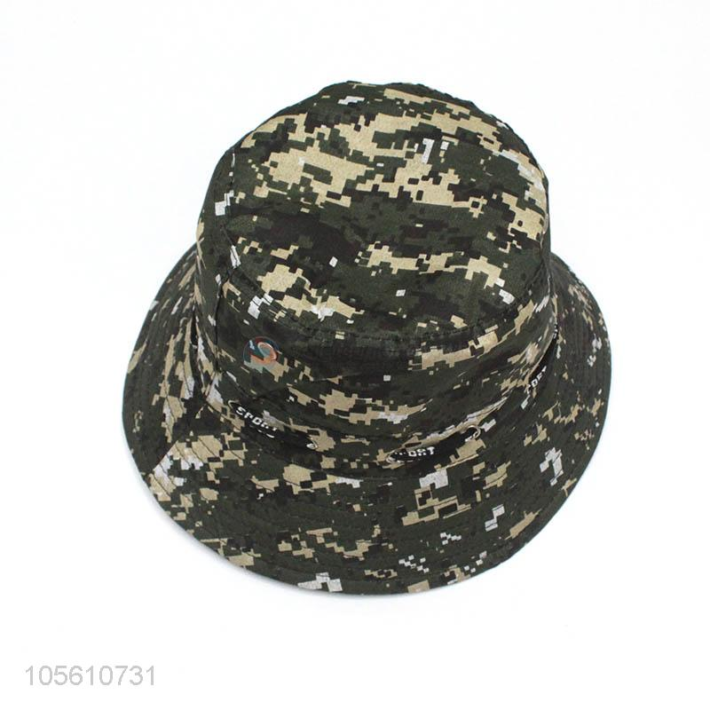 b75ad4bc44a New arrival camouflage color kids summer bucket hat - Sellersunion Online