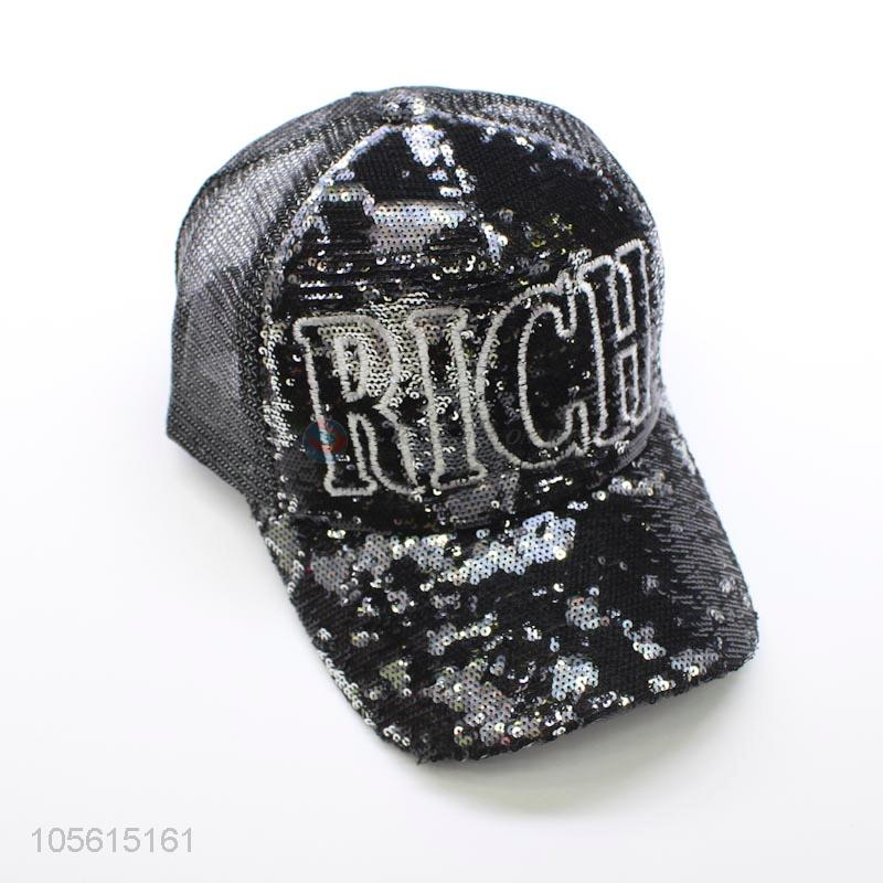 1361682d5e974 Wholesale cheap unisex embroidered snapback cap baseball hat with sequins - Sellersunion  Online