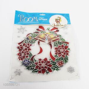 Hot selling Christmas garland shape wall stickers for decor