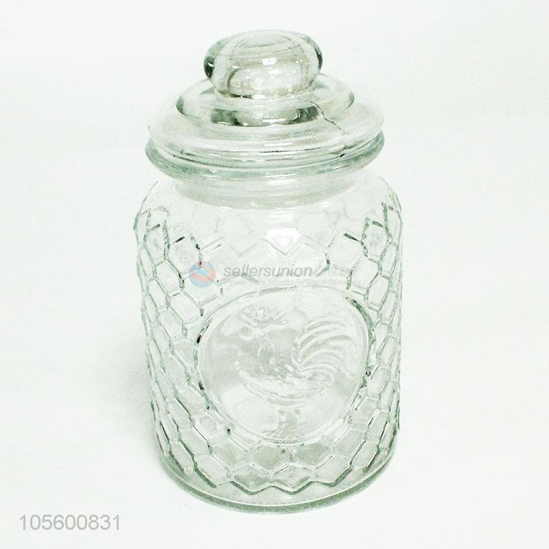 Cookie Jars For Sale Online Best High Sale Transparent Clear Textured Glass Sealed Jar For Cookies