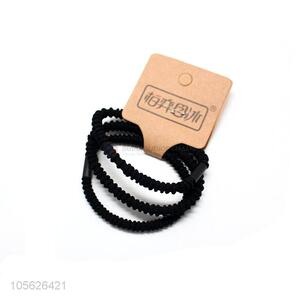 Top sale low price black elastic hair ties hair ropes