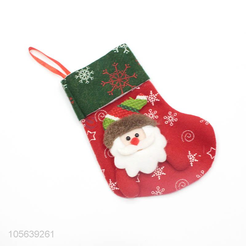 Made In China Wholesale Red and Green Claus Christmas Gift Bag Santa Christmas Stocking Sock - Sellersunion Online