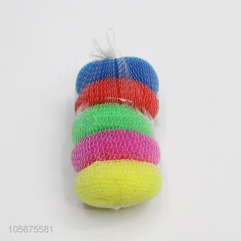 Wire Mesh Scrubber | Best Sale Kitchen Cleaning Ball Wire Mesh Scrubber Sponge Plastic