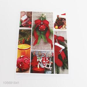 Hot selling paper greeting card for Christmas