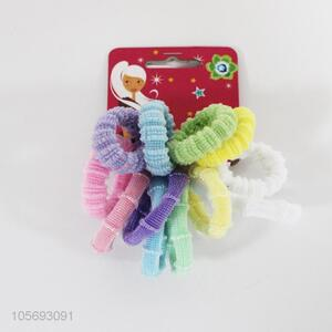 12PCS Hair Ring Candy Color Hairband