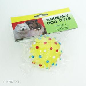 Best selling squeaky dog  toy vinyl ball