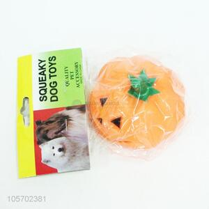 Hot selling squeaky dog  toy vinyl pumpkin