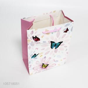 Professional factory butterfly printed reusable gift bag