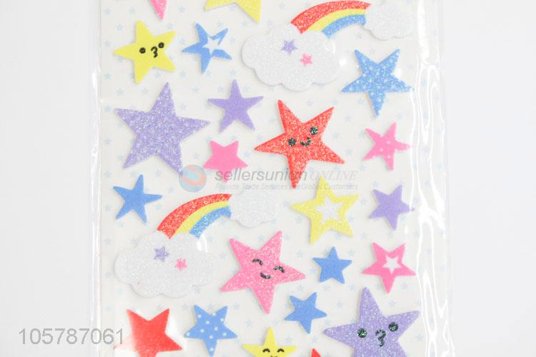 Professional supply lovely colorful star moon pvc stickers